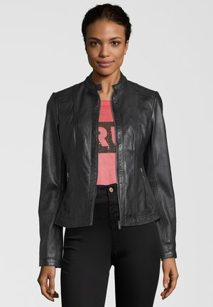 URSULA - Leather jacket - black