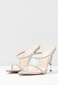 BEBO - HELENA - Pantofle na podpatku - silver - 4