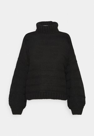 NMWENDY HIGH NECK - Jumper - black