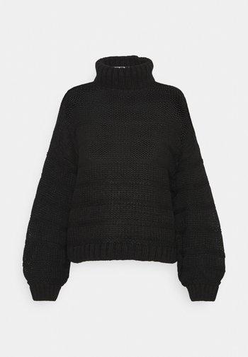 NMWENDY HIGH NECK - Strikpullover /Striktrøjer - black