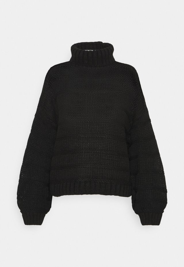 NMWENDY HIGH NECK - Sweter - black