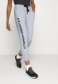 Under Armour - RIVAL SHINE JOGGER - Spodnie treningowe - steel medium heather - 0