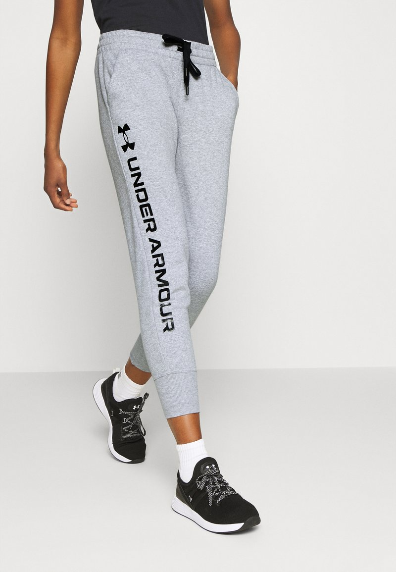 Under Armour - RIVAL SHINE JOGGER - Teplákové kalhoty - steel medium heather