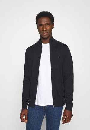 PIMA ZIP THROUGH - Cardigan - black