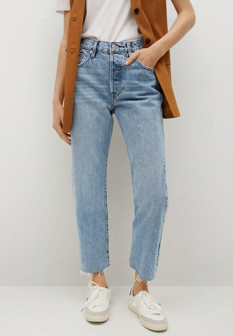Mango - Straight leg jeans - medium blue