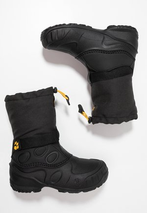 ICELAND HIGH - Botas para la nieve - black/burly yellow