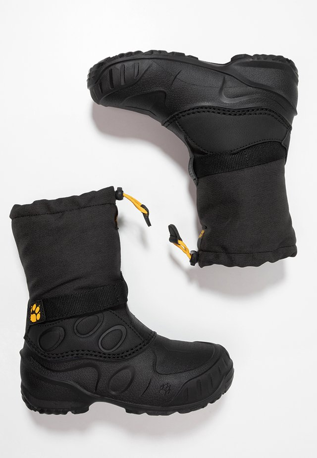 ICELAND HIGH - Winter boots - black/burly yellow