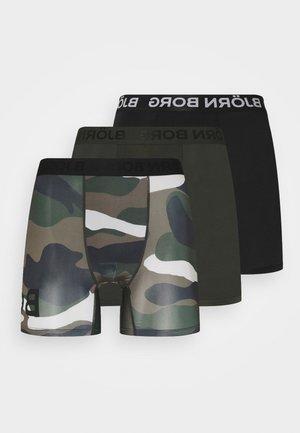PERFORMANCE BOXER 3 PACK - Onderbroeken - black/khaki