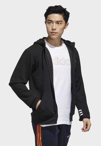 adidas Performance - ESSENTIALS COMFORT HOODED TRACK TOP - Zip-up hoodie - black - 3