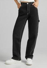 Bershka - Flared Jeans - dark grey - 0