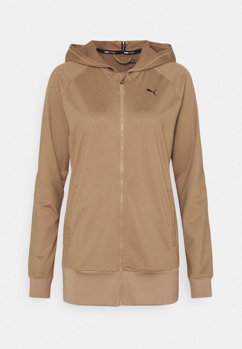 Puma - STUDIO JACKET - Zip-up hoodie - amphora heather