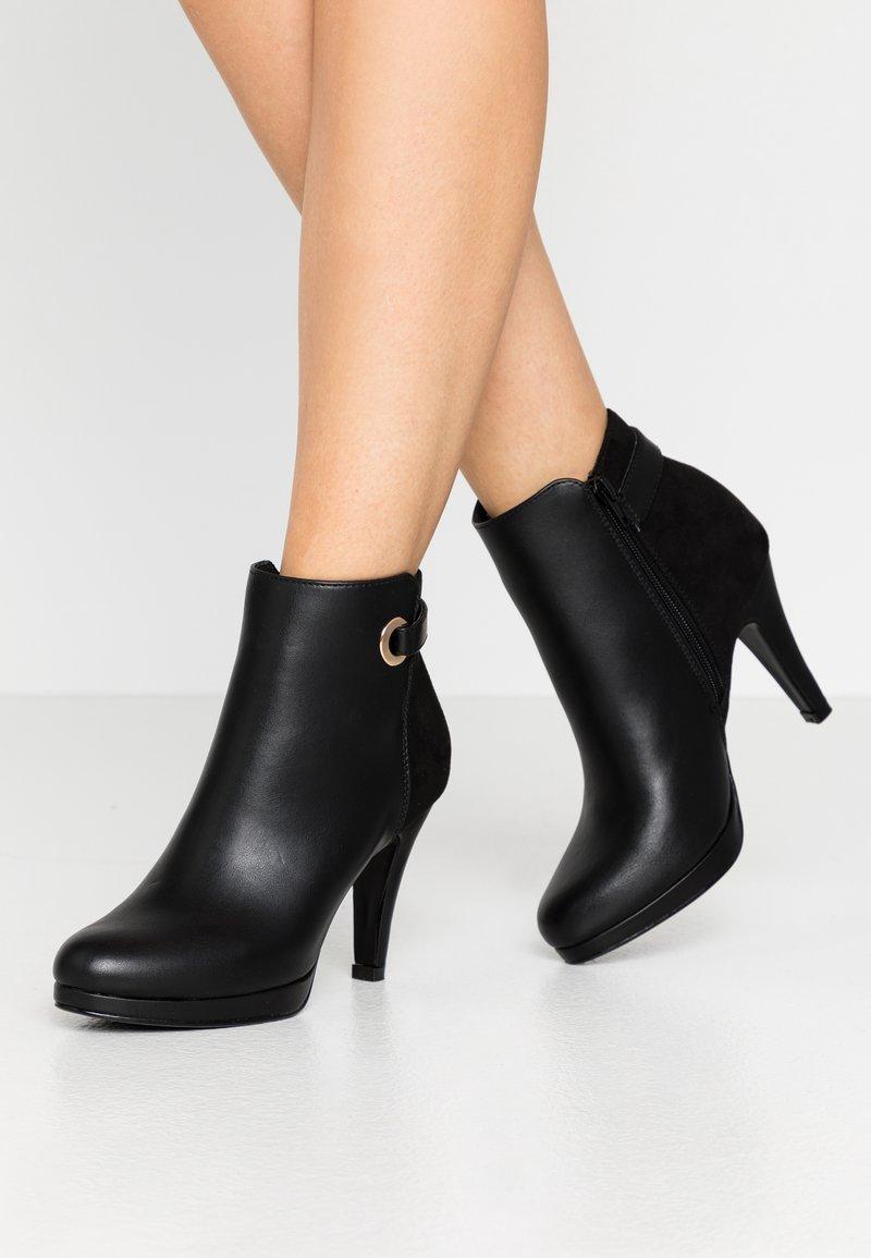 Anna Field - Ankelboots med høye hæler - black