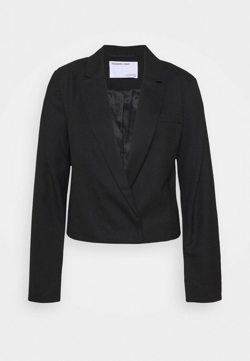 DESIGNERS REMIX - DALLAS CROPPED - Blazer - black