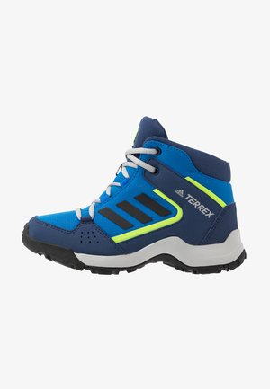 TERREX HYPERHIKER TRAXION HIKING SHOES - Obuwie hikingowe - glow blue/core black/signal green