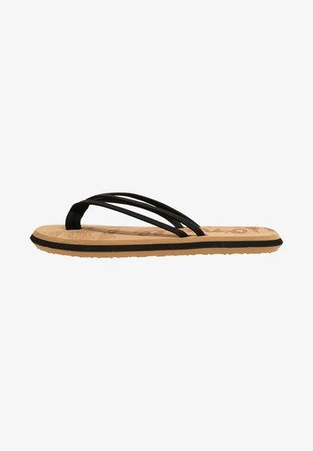 T-bar sandals - blackout  a
