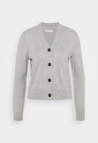 Marc O'Polo - CARDIGAN LONG SLEEVE V-NECK BUTTON - Kardigan - chalk grey melange - 0