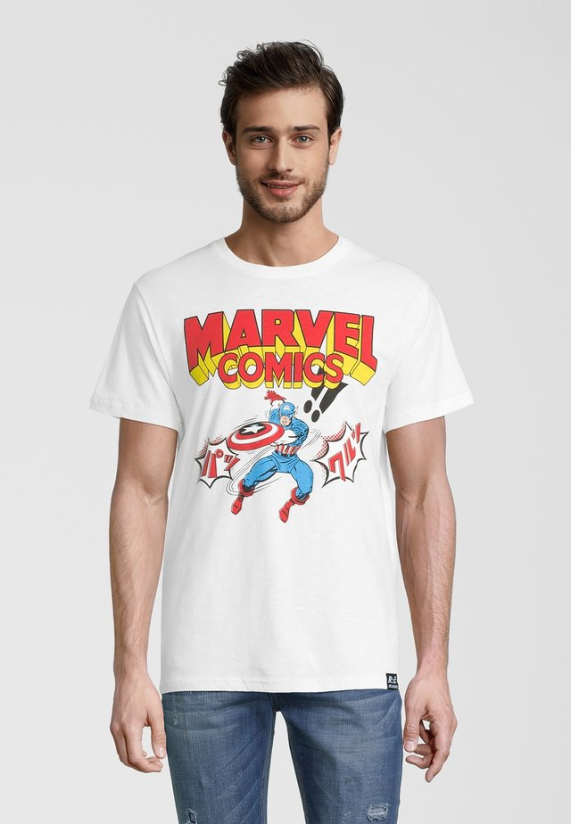 MARVEL COMICS CAPTAIN AMERICA  - T-shirt con stampa - weiß