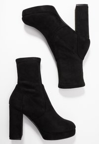 Even&Odd Wide Fit - WIDE FIT - High heeled ankle boots - black - 3