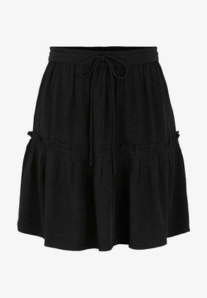 SOLIDA - A-line skirt - black