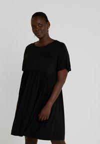 Simply Be - ANGLE SLEEVE SMOCK DRESS - Denní šaty - black - 0