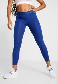 Reebok - WORKOUT READY COMMERCIAL TIGHTS - Leggings - cobalt - 0