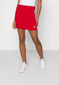 adidas Originals - THREE STRIPES SKIRT - Minifalda - red - 0
