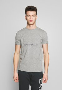 EA7 Emporio Armani - T-Shirt print - medium grey - 0