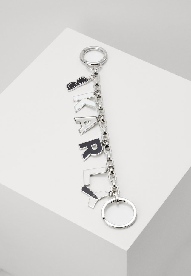 CHARMS HANGING KEYCHAIN - Porte-clefs - black/white