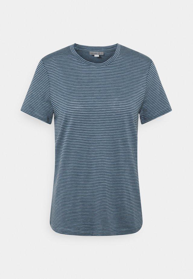 DOWLAS CREWE STRIPE - T-shirt print - gravel