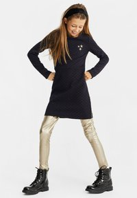 WE Fashion - MET GLITTERDESSIN - Korte jurk - all-over print - 0