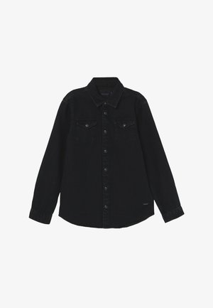 EASY WESTERN WITH SEASONAL DETAILS - Shirt - black denim