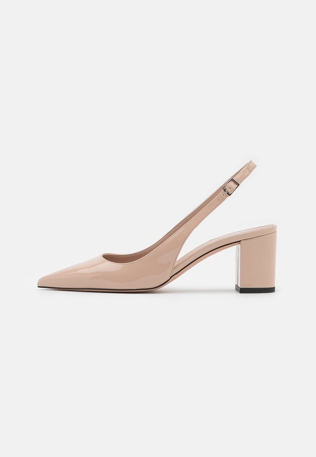 INES SLING - Escarpins - light beige