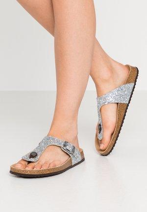BRIONIA - T-bar sandals - silver