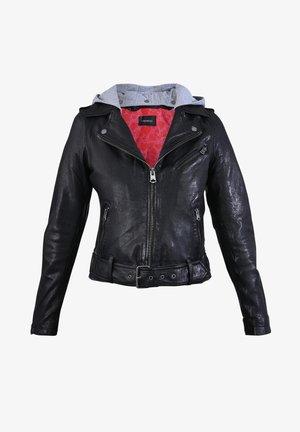 PIXEL - Leather jacket - black
