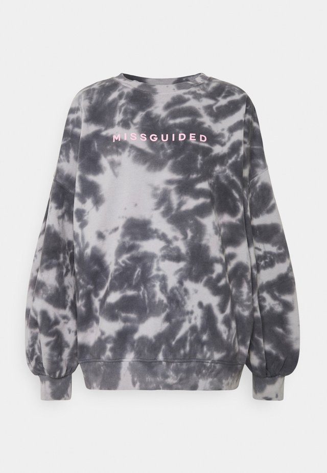 BRANDED TIE DYE - Sweatshirt - grey