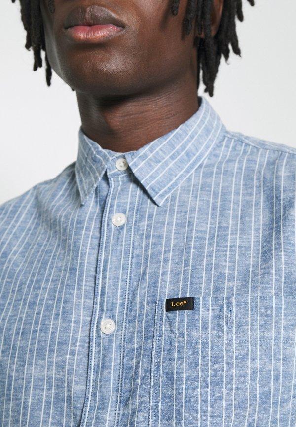 Lee LEESURE SHIRT - Koszula - washed blue/niebieski Odzież Męska IAAA