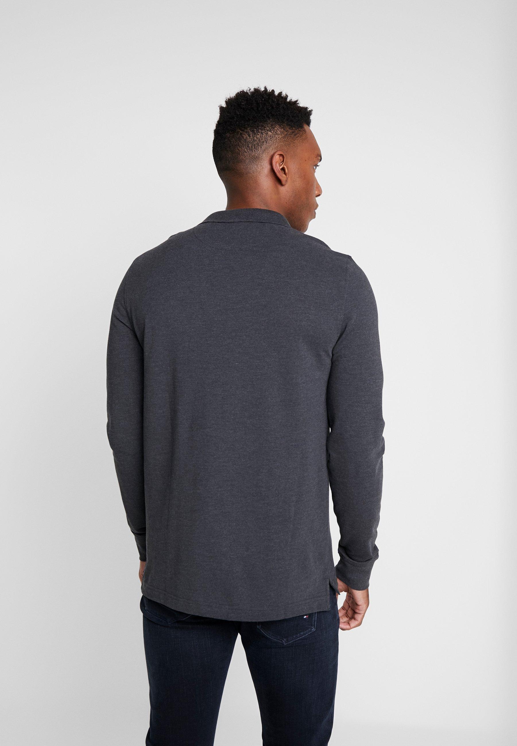 Pier One 2 Pack - Poloskjorter Mottled Grey/black/grå-melert
