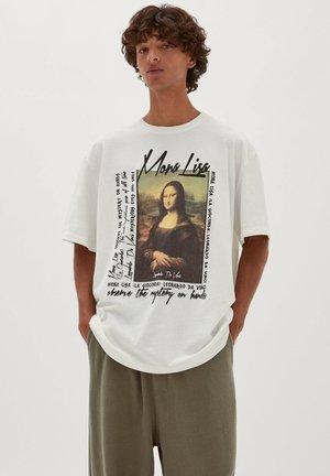 LA MONA LISA SLOGAN - T-shirt med print - white