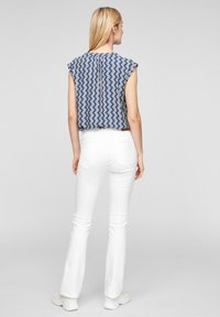 s.Oliver - Blouse - faded blue zic zac stripes - 2