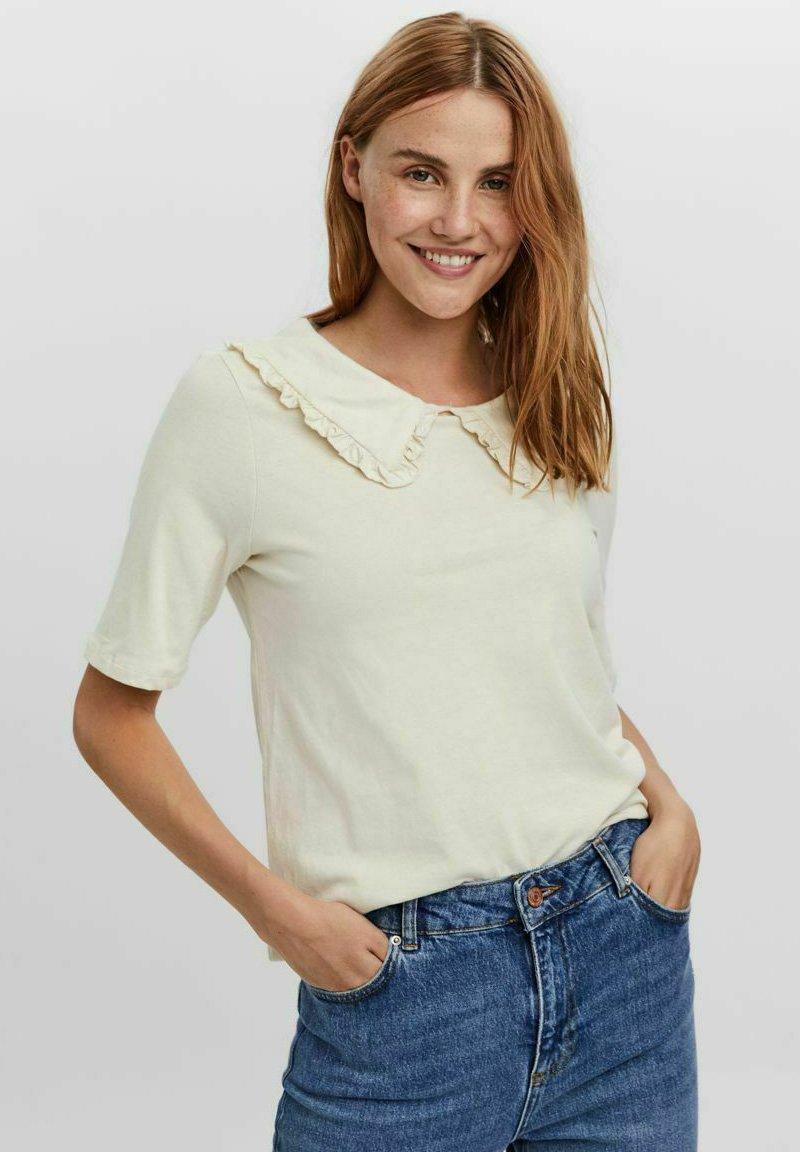 Damen KRAGEN - T-Shirt basic