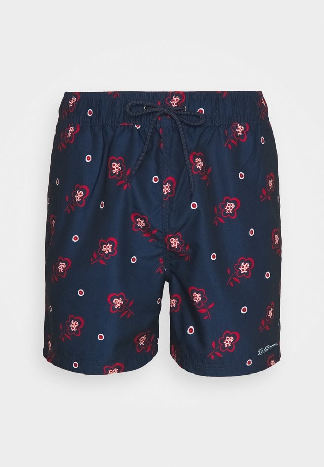 TURQUOISE BAY - Swimming shorts - navy/red/white