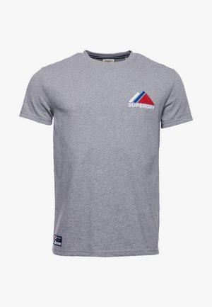 T-shirt med print - grey marl
