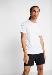 Craft - CORE ESSENCE TEE  - T-Shirt print - white - 0