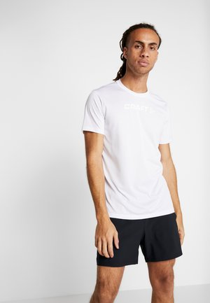 CORE ESSENCE TEE  - T-shirt med print - white