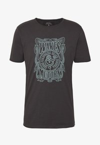 Only & Sons - ONSCARL SLIM RAW EDGE TEE  - T-shirt print - phantom - 4
