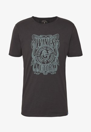 ONSCARL SLIM RAW EDGE TEE  - T-shirt print - phantom