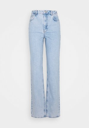CONTRAST POCKET HIGH WAIST - Jeans relaxed fit - light blue