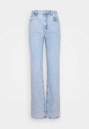 CONTRAST POCKET HIGH WAIST - Jean boyfriend - light blue