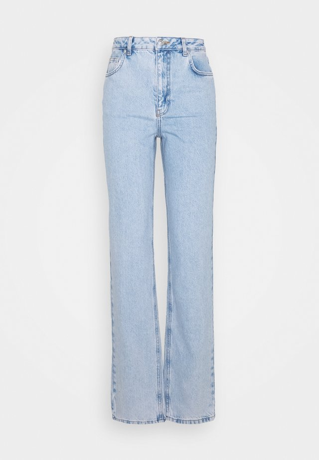 CONTRAST POCKET HIGH WAIST - Jeans baggy - light blue