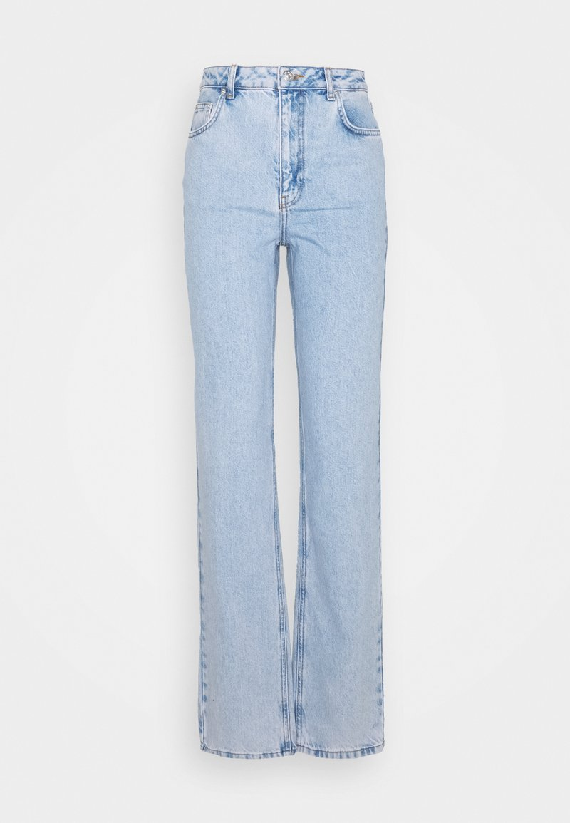 NA-KD Tall - CONTRAST POCKET HIGH WAIST - Jeans relaxed fit - light blue